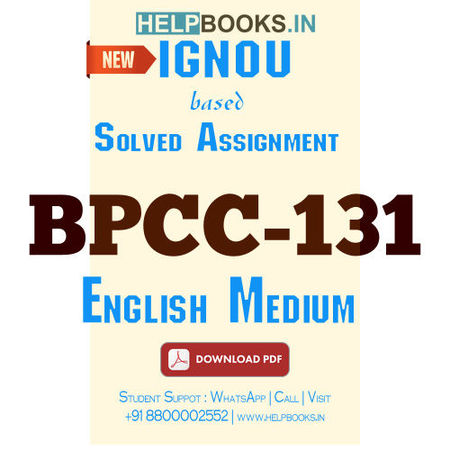 Download BPCC131 Solved Assignment 2020-2021 (English Medium)-Foundations of Psychology