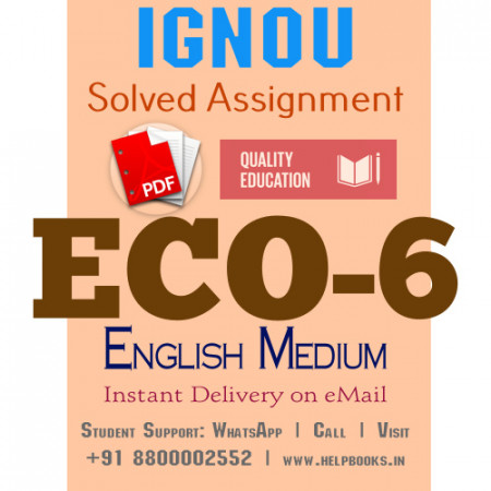 Download ECO6 IGNOU Solved Assignment 2020-2021 (English Medium)