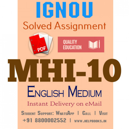 Download MHI10 IGNOU Solved Assignment 2020-2021 (English Medium)
