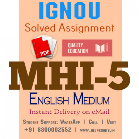 Download MHI5 IGNOU Solved Assignment 2020-2021 (English Medium)