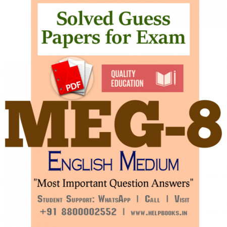 MEG8 IGNOU Solved Sample Papers/Most Important Questions Answers for Exam