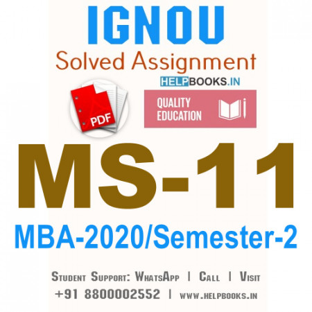 MS11-IGNOU MBA Solved Assignment 2020/Semester-II (Strategic Management)