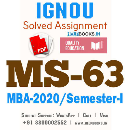 MS63-IGNOU MBA Solved Assignment 2020/Semester-I (Product Management)