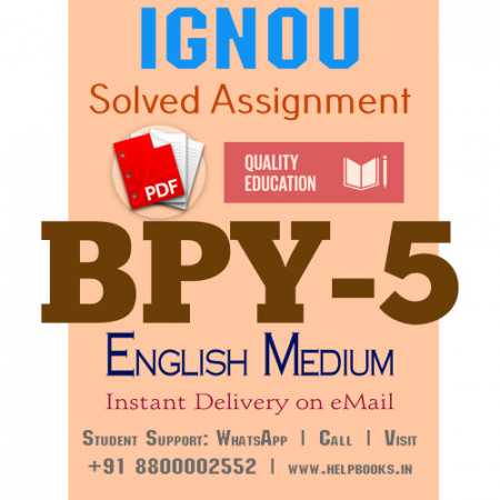 Download BPY5 IGNOU Solved Assignment 2020-2021 (English Medium)