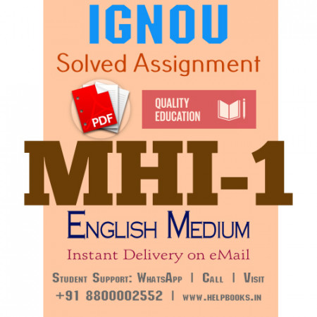 Download MHI1 IGNOU Solved Assignment 2020-2021 (English Medium)