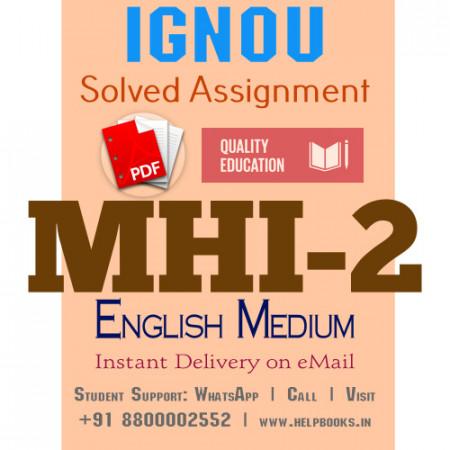 Download MHI2 IGNOU Solved Assignment 2020-2021 (English Medium)