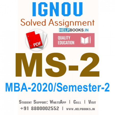 MS2-IGNOU MBA Solved Assignment 2020/Semester-II (Management of Human Resources)