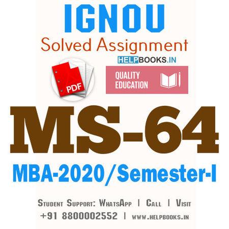 MS64-IGNOU MBA Solved Assignment 2020/Semester-I (International Marketing)