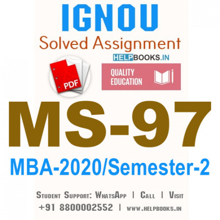 MS97-IGNOU MBA Solved Assignment 2020/Semester-II (International Business Management)