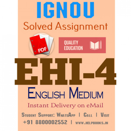 Download EHI4 IGNOU Solved Assignment 2020-2021 (English Medium)
