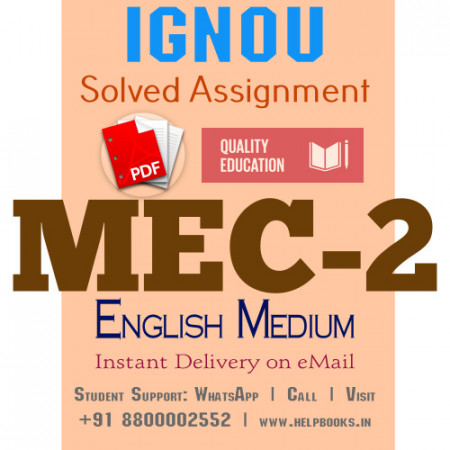 Download MEC2 IGNOU Solved Assignment 2020-2021 (English Medium)