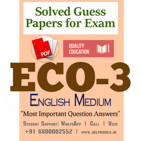 ECO3 IGNOU Solved Sample Papers/Most Important Questions Answers for Exam-English Medium