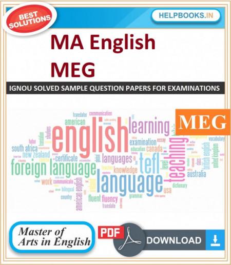 IGNOU MA English Solved Assignments-MEG | e-Assignment Copy | 2019-2020