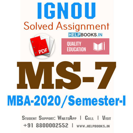 MS7-IGNOU MBA Solved Assignment 2020/Semester-I (Information Systems for Managers)