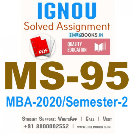 MS95-IGNOU MBA Solved Assignment 2020/Semester-II (Research Methodology for ManagementDecisions)