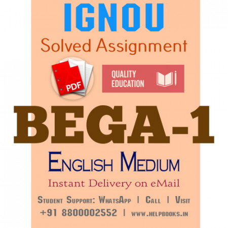 Download BEGA1 IGNOU Solved Assignment 2020-2021