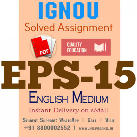 Download EPS15 IGNOU Solved Assignment 2020-2021 (English Medium)