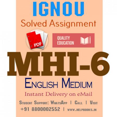 Download MHI6 IGNOU Solved Assignment 2020-2021 (English Medium)