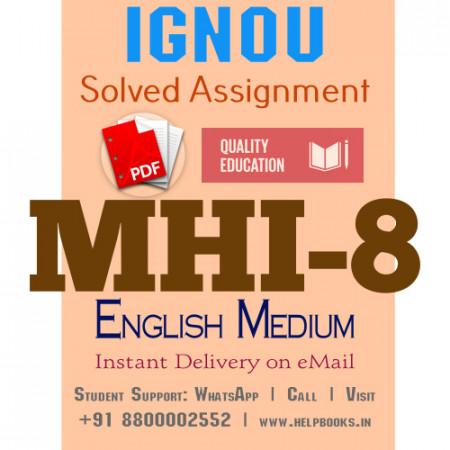 Download MHI8 IGNOU Solved Assignment 2020-2021 (English Medium)