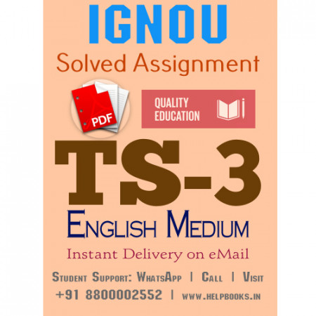 Download TS3 IGNOU Solved Assignment 2020-2021 (English Medium)