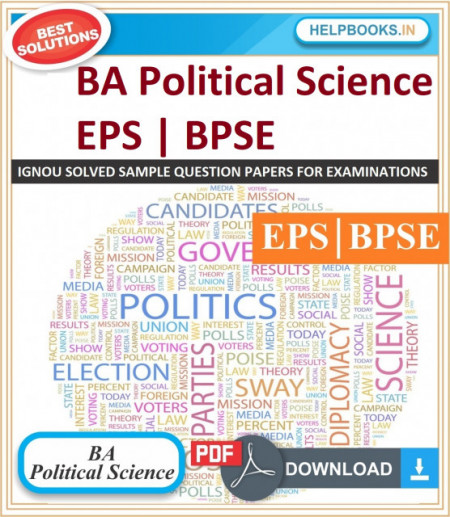 IGNOU BA Political Science Solved Assignments-BPSE & EPS | e-Assignment Copy | 2020-21