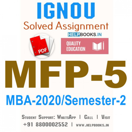 MFP5-IGNOU MBA Solved Assignment 2020/Semester-II (Professionals in Financial Markets Practice)