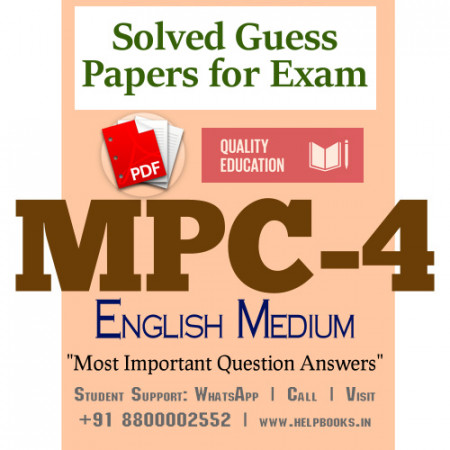 MPC4 IGNOU Solved Sample Papers/Most Important Questions Answers for Exam