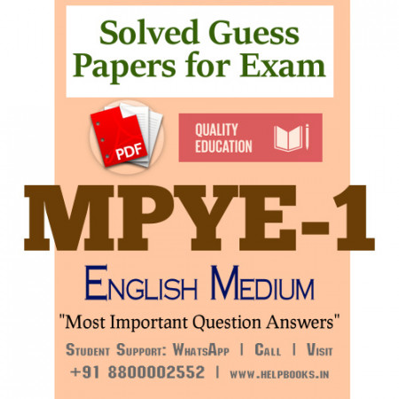 MPYE1 IGNOU Solved Sample Papers/Most Important Questions Answers for Exam