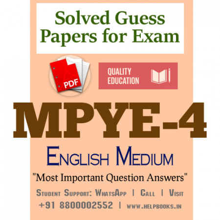 MPYE4 IGNOU Solved Sample Papers/Most Important Questions Answers for Exam