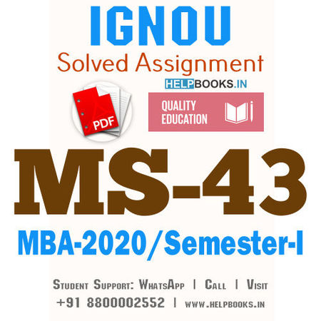MS43-IGNOU MBA Solved Assignment 2020/Semester-I (Management Control Systems)