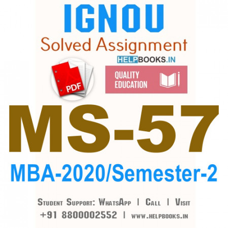 MS57-IGNOU MBA Solved Assignment 2020/Semester-II (Maintenance Management)