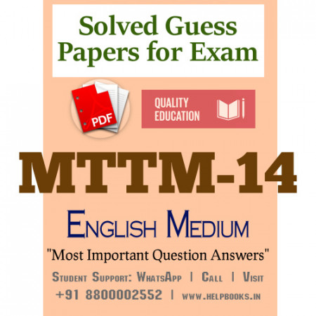 MTTM14 IGNOU Solved Sample Papers/Most Important Questions Answers for Exam