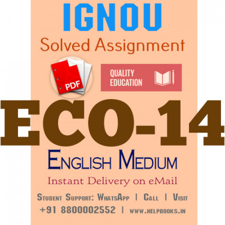 Download ECO14 IGNOU Solved Assignment 2020-2021 (English Medium)