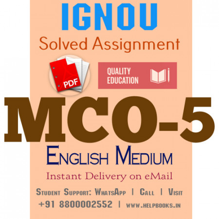 Download MCO5 IGNOU Solved Assignment 2020-2021 (English Medium)
