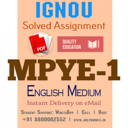 Download MPYE1 IGNOU Solved Assignment 2020-2021