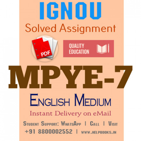 Download MPYE7 IGNOU Solved Assignment 2020-2021