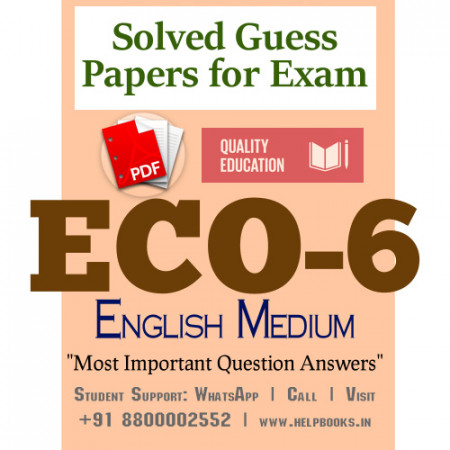 ECO6 IGNOU Solved Sample Papers/Most Important Questions Answers for Exam-English Medium