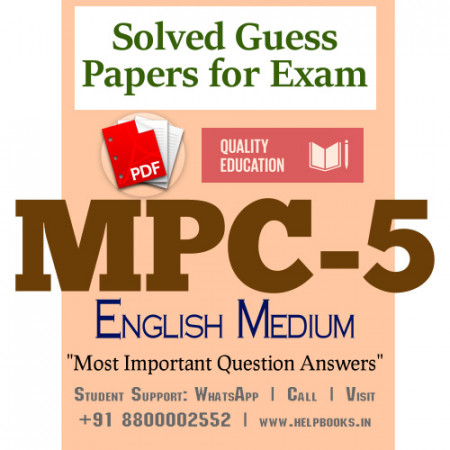 MPC5 IGNOU Solved Sample Papers/Most Important Questions Answers for Exam