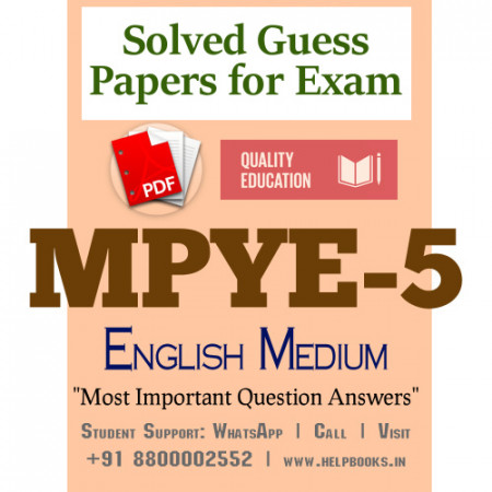 MPYE5 IGNOU Solved Sample Papers/Most Important Questions Answers for Exam