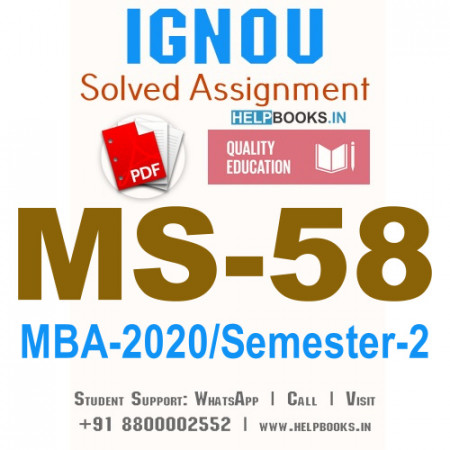 MS58-IGNOU MBA Solved Assignment 2020/Semester-II (Management of R&D and Innovation)