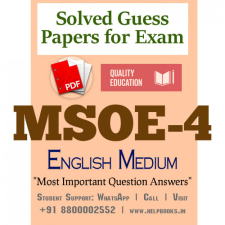 MSOE4 IGNOU Solved Sample Papers/Most Important Questions Answers for Exam-English Medium