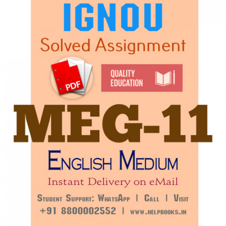 Download MEG11 IGNOU Solved Assignment 2020-2021