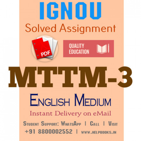Download MTTM3 IGNOU Solved Assignment 2020-2021
