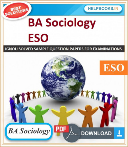 IGNOU BA Sociology Solved Assignments-ESO | e-Assignment Copy | 2020-21