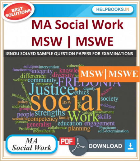 IGNOU MA Social Work Solved Assignments-MSW & MSWE | e-Assignment Copy | 2020-21