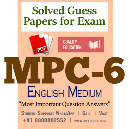MPC6 IGNOU Solved Sample Papers/Most Important Questions Answers for Exam