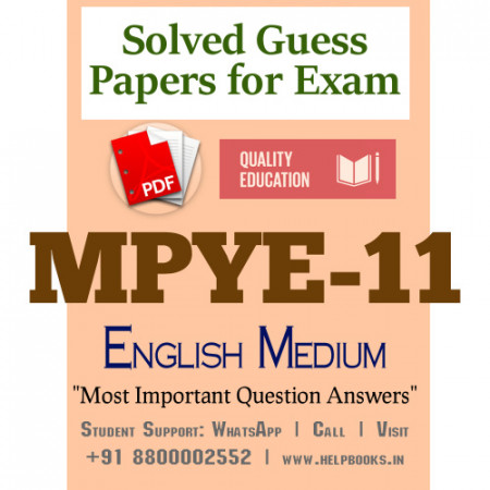 MPYE11 IGNOU Solved Sample Papers/Most Important Questions Answers for Exam