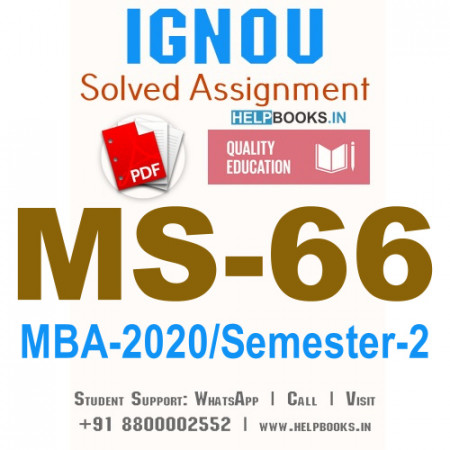 MS66-IGNOU MBA Solved Assignment 2020/Semester-II (Marketing Research)