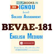 BEVAE181 Solved Assignment (English Medium)-Environmental Studies