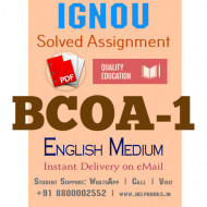 Download BCOA1 IGNOU Solved Assignment 2020-2021